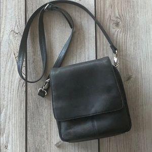 HOBO black leather crossbody handbag